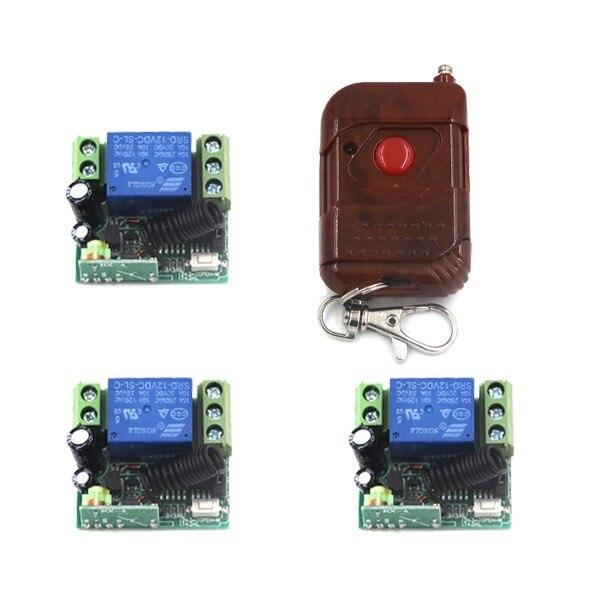 12V Remote Control Switch Wireless Remote Plug Transmitter control 3 Receivers 315Mhz / 433Mhz SKU: 5187<br><br>Aliexpress