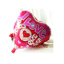 10Pcs/Lot 18Inch Cartoon Love Heart  Balloon Inflatable Foil Balloons Walentine I LOVE YOU Decorations Wedding Party Supplies