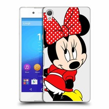 Emijo Cartoon Mickey Mouse mickey Minnie Transparent Hardcover Plastic Cover Cases For Sony ericsson Z1 Z2 Z3 Z4 Z5 cases(China)