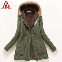 A ARCITON 2017 Fashion Jacket Women Thick Warm Women Basic Coats 9 Colors Solid Winter Female Jacket Chaqueta Mujer(N-1049)