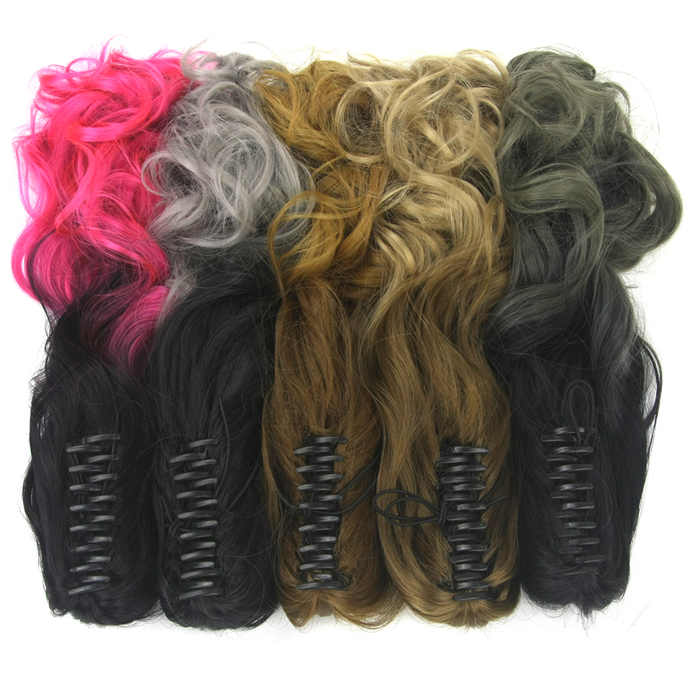 Soowee Long Curly Pink Ombre Claw Ponytail Synthetic Hair Clip In Hair Extensions Hairpiece Pony Tail Postiche Queue De Cheval(China)