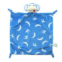 30 * 30 newborn toys super soft nap towel built-in PP cotton can be imported baby comfort doll LAKE monkey spot(China)
