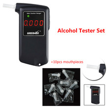 AT858S Sensitive Digital Breath Alcohol Tester analyzer Breathalyzer detector alkohol alcoholmeter lcd with 15pcs mouthpieces(China)