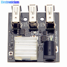 DC-DC 9V/12V To 5V 8A Step Down Power Charger Bank Board 3 USB Mini Charging Module Step-Down Buck Converter For Arduino