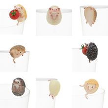 Little Hedgehog 8pcs/set Action Figures Cup Hang Cute Hedgehog Doll PVC figure Toys Brinquedos Anime 3-4CM(China)