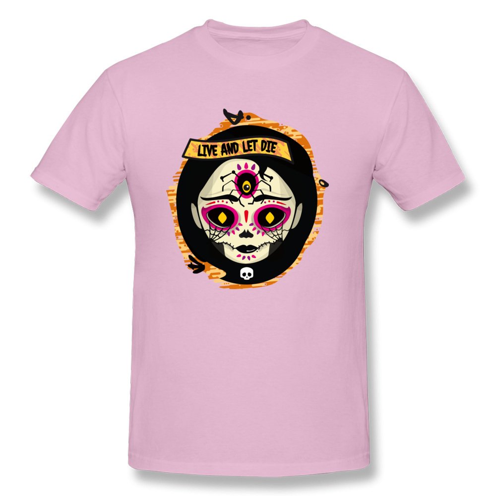 Catrina 100% Cotton T Shirt for Men Design T-shirts Group Funny Round Neck Tees Short Sleeve Drop Shipping Catrina pink