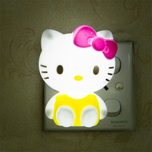 Tanbaby AC85-265V LED night light Hello Kitty Cute lamp home decoration in the evening Novelty gifts for Kids,Girlfriend(China)