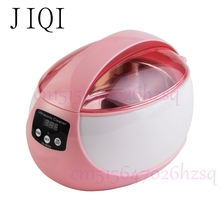 JIQI 50W 750mL Household mini ultrasonic cleaner Ultrasonic wave cleaner Cleaning machine cute suitable for jewelry cleaning