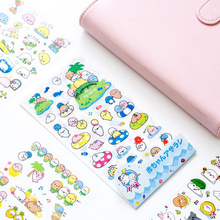 N03 6 Sheets Kawaii Sea Lion Otarriinae DIY Adhensive PVC Stickers Decorative Diary Album Stick Label Paper Decor Stationery