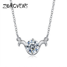 ZORCVENS 12 Constellations Astrology Horoscope Pendant&Necklaces for Women&Men Aries Virgo Taurus Leo Gemini friends Gifts(China)