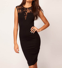 New 2016 Women Dress Sleeveless Slim Hip Sexy Lace Dress Bodycon Dresses Women Cocktail Party Dresses Vestidos
