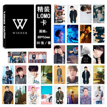 Youpop KPOP WINNER Seung Hoon Song Min Ho Album LOMO Cards K-POP New Fashion Self Made Paper Photo Card HD Photocard LK415