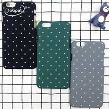 ToGoat Newest Ultra Slim Wave Point Case For iphone 6 Case Colorful Frosted Hard Scrub Cover Dots Phone Cases For iphone 6S 7 PL