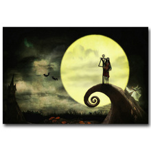 NICOLESHENTING The Nightmare Before Christmas Art Silk Poster Print 13x20 24x36inch Cartoon Movie Picture Home Decor 017