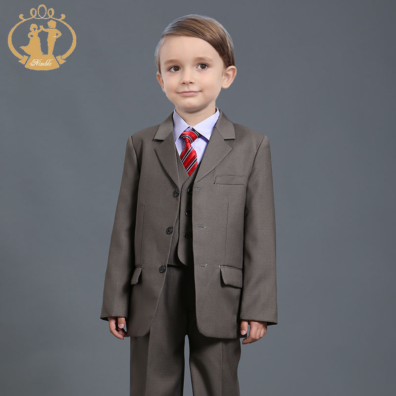 Nimble children clothing sets boys blazers wedding sets 3 Pieces boys tuxedo suits Student performance clothes 72-7<br><br>Aliexpress