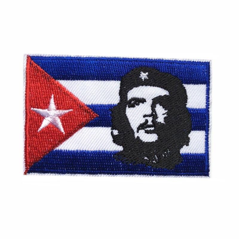 Communist Leader Fidel Castro Embroidered Iron-on Emblem Cuba Ernesto Patch