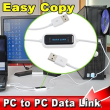 USB 2.0 PC To PC Online Share Sync Link Net Direct Data File Transfer Bridge 165CM LED Cable Easy Copy Between Two 2 Computer