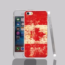 13678 flag canada map leaf red transparent Cover cell phone Case for iPhone 4 4S 5 5S 5C 6 6S Plus 6SPlus