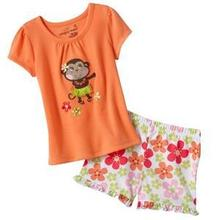 NEW arrived Girl's  Short Sleeve suit Retail 1PCS Boy's Pajamas Suits Girl's Pyjama Sets  -M290C