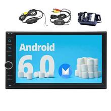 Android 6.0 Car Stereo Capacitive screen Headunit Double Din GPS Navigator Car Radio Multi System Support/1080P/WiFi/OBD2+Camera