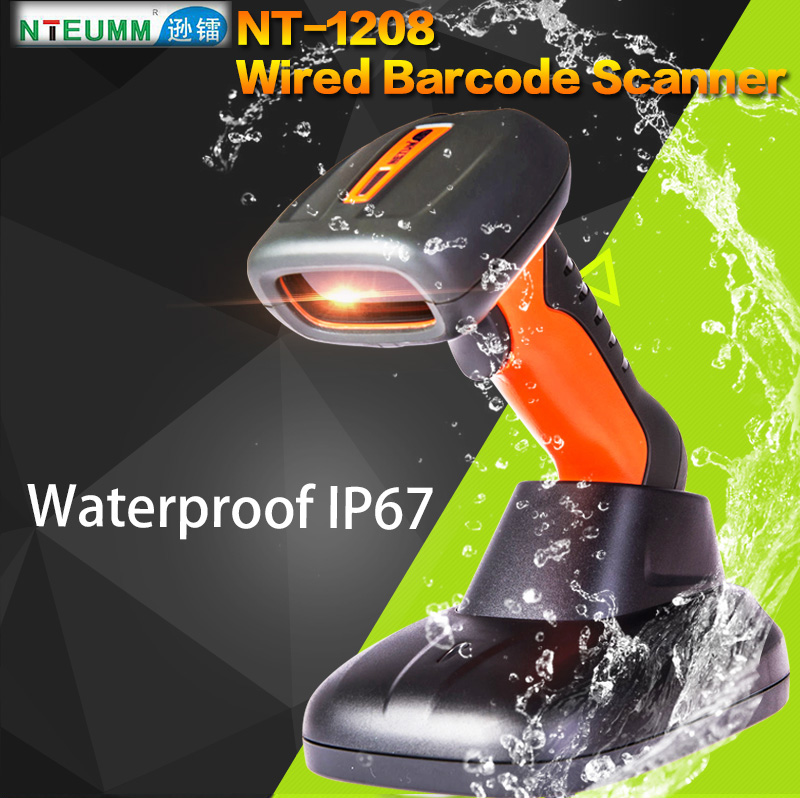 Free Shipping!NTEUM NT-1208 Laser Wired Barcode Scanner USB Waterproof Barcode Reader Portable Handy 1D Barcode Scanner W/Stand<br><br>Aliexpress