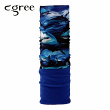 C.gree 2017 Winter Outdoor Sport Double Layers Bandanas Magic Tube Scarf Neck Warmer Multi Function Polar Reversible Headwear(China)