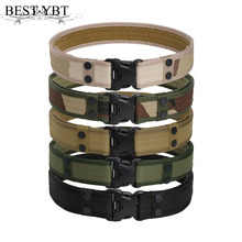 Best YBT Tactical Belt Men's Military Belts Army Thicken Canvas Tactical Outdoor Waistband Adjustable Hunting Emergency(China)