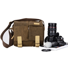 Waterproof Canvas DSLR Camera Bag Vintage Messenger Shoulder Bags Casual bag Shockproof Insert for Sony Canon Nikon Olympus(China)