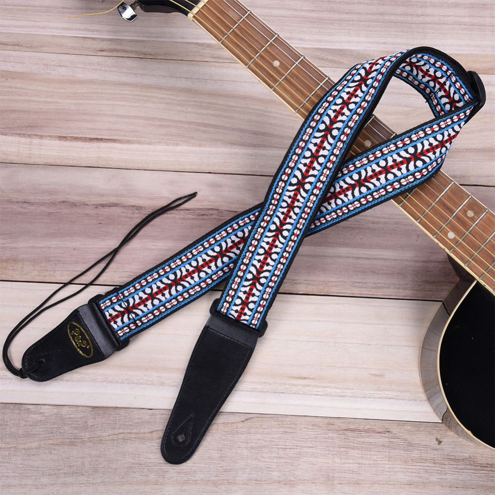 2017 New Embroidery National Style Guitar Strap With Vibrant Color Five Kinds Strap High Durability And Comfort Free Shipping(China (Mainland))