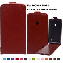 Phone Case For Nokia Lumia 520 N520 525 526 Housing Cover PU Leather Vertical Bag Shell For Nokia Lumia 520 Magnetic Case Cover