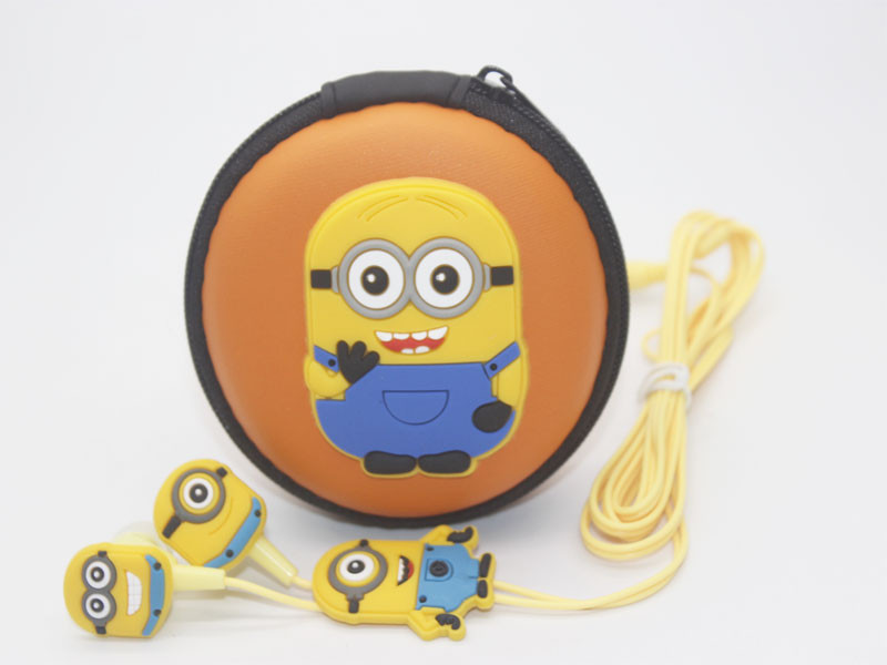 Christmas gift cartoon headphones earphones minions Despicable Me superman 3.5mm jake for iphone5 Samsung<br><br>Aliexpress