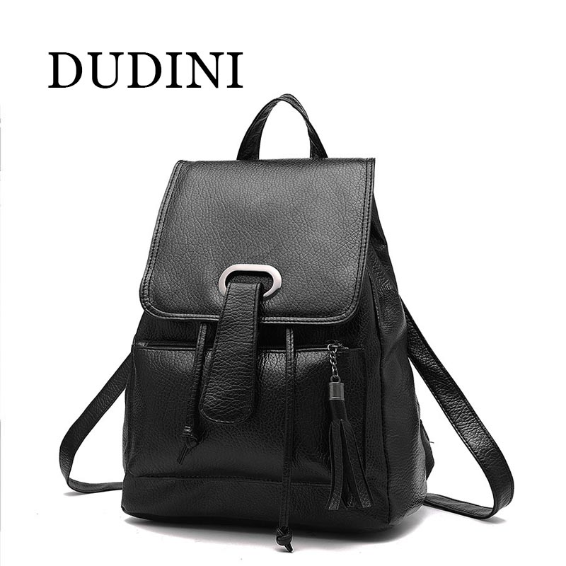 DUDINI Fashion Leather Backpack Women Bags Preppy Style Backpack Girls School Bags Zipper Shoulder Womens BackPack<br><br>Aliexpress