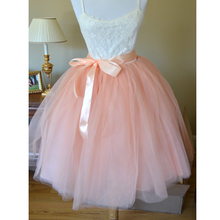 Custom-made Midi Tulle Skirt American Apparel Tutu Skirts Womens Petticoat Elastic Belt 2017 Summer faldas saia jupe BSQ002