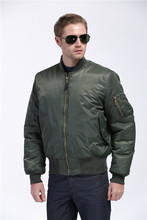 Plus Size US Air Force Pilot Ma1 Bomber Flight Jacket Men Varsity Letterman Winter College Baseball Waterproof Nylon For Male(China)