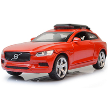 Collection 1:32 scale simulation diecast cars Geely volvo xc SUV model metal body alloy pull back toys with light and musical