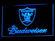 b283 Oakland Raiders Budweiser Bar LED Neon Sign with On/Off Switch 20+ Colors 5 Sizes to choose(China)