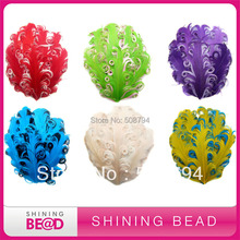 Free shipping 120pcs!!! 2014 Hot sale colorful nagorie feather pads(China)