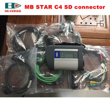 High quality SD C4 connector car Diagnostic Tool MB star C4 multiplexer and A full set of 5 diagnostic cable for Mercedes - Benz