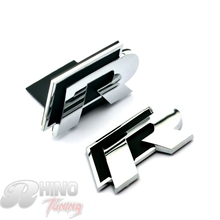 2PC R Line Car Front Grille Grill Emblem Black R Line Metal Badge Auto Side Wing For R Series R36 R400 R32 20293