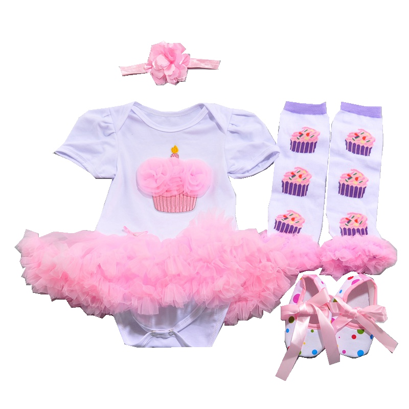 Cake Baby Girl 1st Birthday Outfit 4pcs Toddler Tutu Sets Childhood Fantasy Wear Girls Baby Bourn Baby-Clothes Infant Clothing<br><br>Aliexpress
