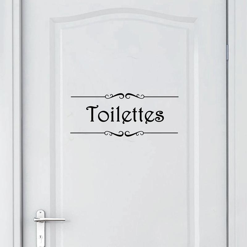 HTB1cvWpaDTI8KJjSsphq6AFppXab - Porte Salle de bain et Toilettes French Bathroom Sticker