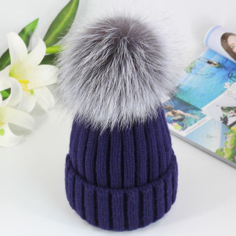 womens Winter hats women Knitting Cap fox raccoon womens fur pom ball Bulb Wool knitted hat Woman girls cappello pompoms gorroОдежда и ак�е��уары<br><br><br>Aliexpress