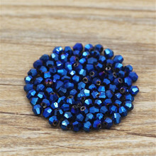DIY TOP quality 4mm 100pcs AAA Bicone Upscale Austrian crystal Beads Loose Bead supply AB color plating Jewelry Making(China)