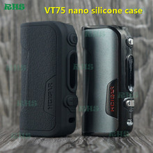Best selling high flexibility Silicone decorative case/cover for innovative Hcigar VT75 nano box mod 13 colors free shipping(China)