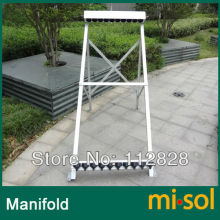 manifold (10 holes) with bracket for solar collector ( tube 58*1800mm), for solar water heater(China)