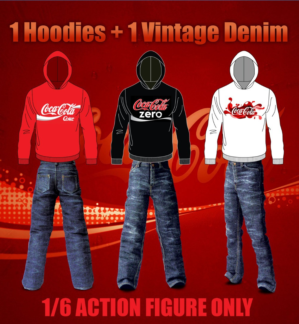 1/6 scale figure doll clothes male Sweatshirts+jeans for 12 Action figure doll accessories not include doll,shoes and other<br>