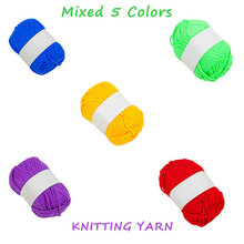 Looen Knitting Yarns Balls For Crocheting DIY Tool Knitting Wool Yarns Soft Yarns Baby Cotton Yarn 5pcs /pack random colors(China)