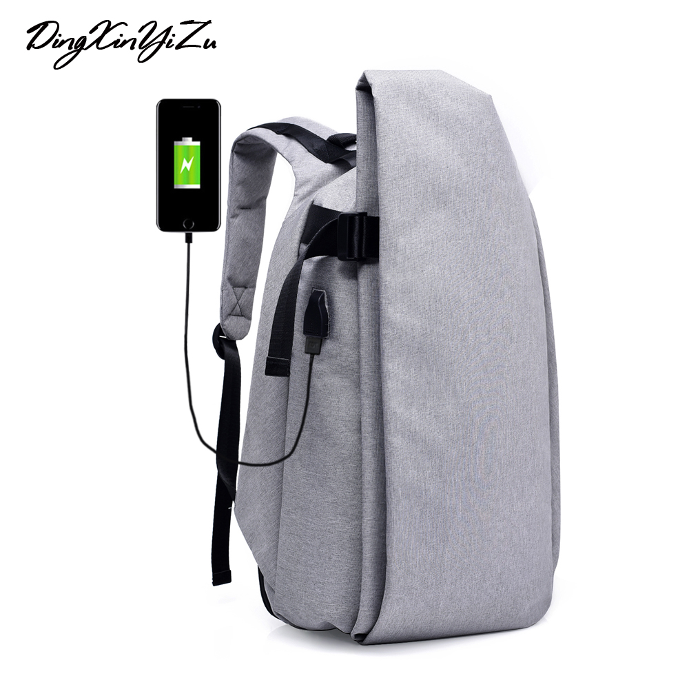2018 Men Office Backpack USB Charging male Travel rucksack for teenagers Women Laptop package Backpack For Students<br>