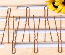 Bobby Pins Brown Hairpins professional makeup hair maker accessory round toe hair clip 100pcs/lot bobby pins retail/wholesale