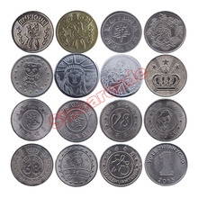 100pcs per bag Arcade Style Gaming Coin Tokens 25*1.85mm Stainless steel tokens for Arcade MAME Amusement Machine Cabinet(China)